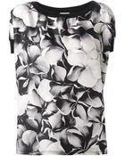 Moncler Floral Print Crepe Top - Lyst
