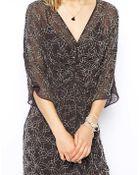 Needle & Thread Embellished Geo Dress with Kimono Sleeve - Lyst