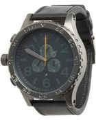 Nixon The 51-30 Chrono Leather - Lyst