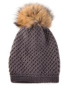Inverni Slouch Pom Beanie - Lyst
