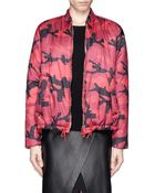 Valentino Camouflage Print Down Bomber Jacket - Lyst