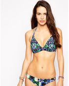 Asos Fuller Bust Lily Floral Hidden Underwire Bikini Top Dd-G - Lyst