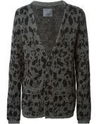 Laneus Leopard Pattern Cardigan - Lyst