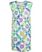 MSGM Silk Dual Print Dress - Lyst