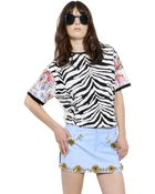 Emanuel Ungaro Printed & Waxed Cotton T-Shirt - Lyst