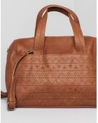 Pull&Bear Bowling Bag With Embossed Front - Lyst