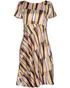 Jil Sander Navy Knee-Length Dress - Lyst