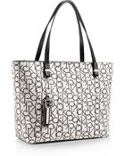 Calvin Klein White Label Haley Lurex City Shopper Tote - Lyst