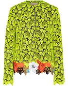 Christopher Kane Neon Guipure Lace And Cady Jacket - Lyst