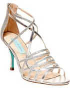Betsey Johnson Crown Strappy Open-Toe Sandals - Lyst