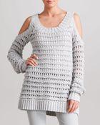 Donna Karan New York Coldshoulder Sweater - Lyst