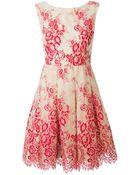 Alice + Olivia Lace A-Line Dress - Lyst