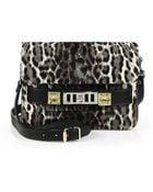 Proenza Schouler Ps11 Mini Leopard-Print Calf Hair Satchel - Lyst
