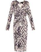 Saloni Gloria Python-Print Dress - Lyst