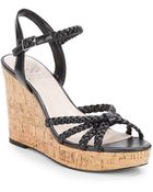 Vince Camuto Trudy Braided Strappy Cork Wedge Sandals - Lyst