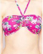 Marie Meili Hanalei Tropical Bandeau Bikini Top - Lyst
