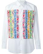 Comme des Garçons Printed Ruffled Shirt - Lyst