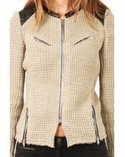 Iro Ceylona Leather Trim Jacket - Lyst
