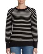 French Connection Striped Raglan Sweater - Lyst
