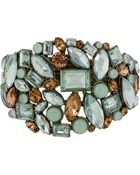 Betsey Johnson Crystallized Gemstone Bangle Bracelet - Lyst