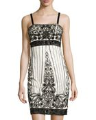 Sue Wong Beaded & Sequined Pattern Cocktail Dress - Lyst