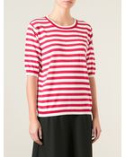 Dolce & Gabbana Striped Top - Lyst