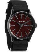 Nixon Sentry Dark Wood Black Watch - Lyst