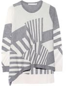 Thakoon Addition Asymmetric Jacquard-Knit Wool Sweater - Lyst