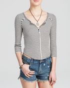 Free People Top - Thermal Stars And Stripes - Lyst