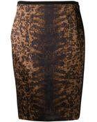 Reed Krakoff 'Tejus' Satin Pencil Skirt - Lyst