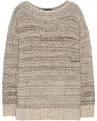 Vince Marled Cotton-Blend Sweater - Lyst