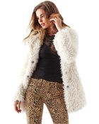 Guess Faux Fur Coat - Lyst
