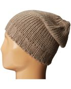Hat Attack Solid Knit Slouchy - Lyst