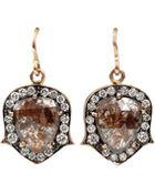Sylva & Cie Rough Diamond Drop Earrings - Lyst