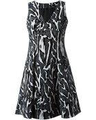 Proenza Schouler Wood Grain Print Dress - Lyst