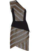 Sass & Bide Asymmetric Natural Selection Peplum Dress - Lyst