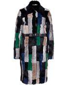 Preen Line Patchwork Rabbit Fur Coat - Lyst