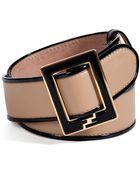 Fendi Camel/Black Leather Belt - Lyst