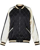 McQ by Alexander McQueen Quilted Satin Bomber Jacket - Lyst