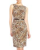 Anne Klein Leopard Print Sheath Dress - Lyst