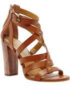 Dolce Vita Nolin Leather Strappy Open-Toe Sandals - Lyst