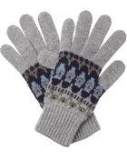 Johnstons Fairisle Gloves - Lyst