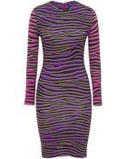 House Of Holland Short Mini Dress Multi Zebra - Lyst
