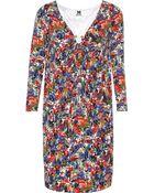M Missoni Printed Jersey Dress - Lyst