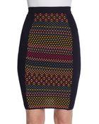 M Missoni Cube Print Mini Skirt - Lyst