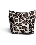 Jimmy Choo 'Anabel' Leopard Print Calf Hair Crossbody Bag - Lyst