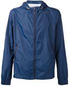 AMI Hooded Windbreaker Jacket - Lyst