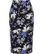 Oasis Shadow Orchid Pencil Skirt - Lyst