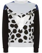 Être Cécile Graphic Cheetah Print Sweatshirt - Lyst