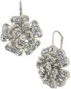 Betsey Johnson Crystallized Flower Drop Earrings - Lyst